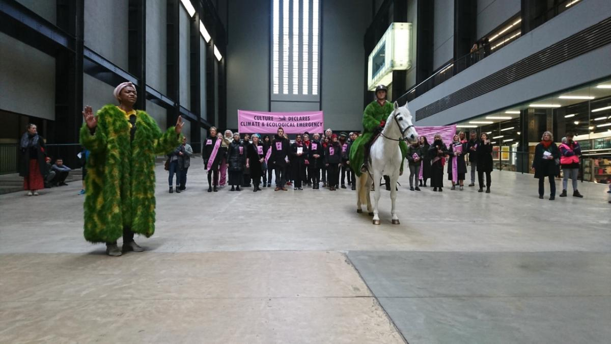 Culture Declares Emergency | Launch Procession | Tate Modern | Photo © Jamie Lowe
