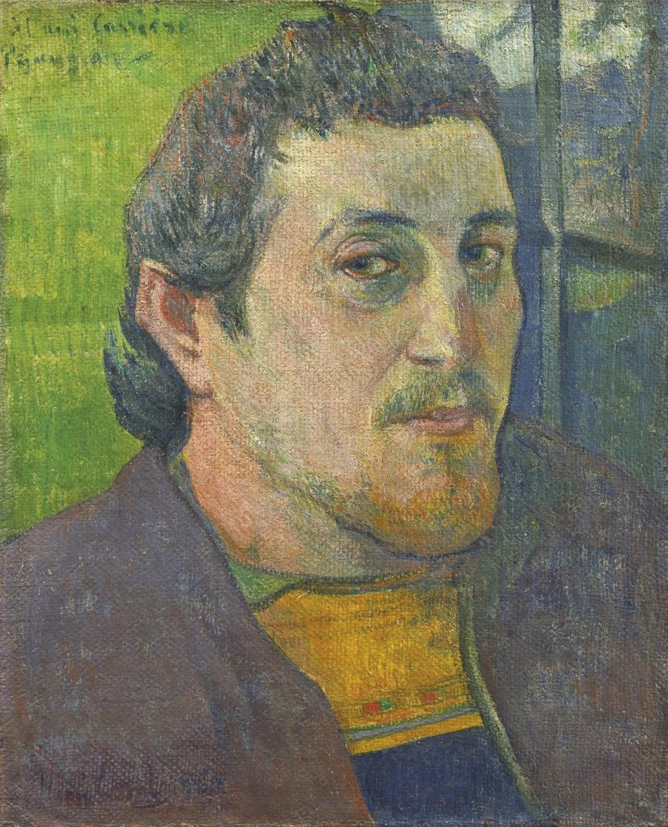 Self-Portrait Dedicated to Carrière by Paul Gauguin, painted in the years 1888–89