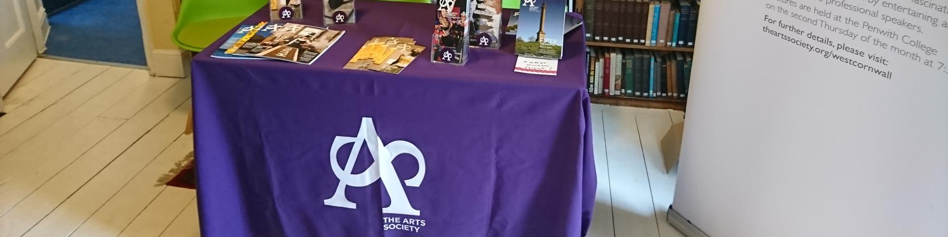 The Arts Society West Cornwall stand