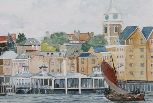 painting by Jack Meesam , Gravesend Art Club