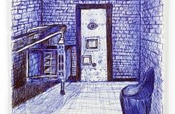 Inside my Prison; Outside my Prison Cell, HM Prison Liverpool, Drawing