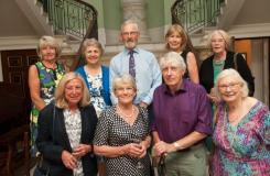 The picture above shows the committee – from left to right:  Lucy Atkin, Ann Bernard, Peter Bernard, Helga Toon, Liz Megginson, Maureen Edwards, Trish Megginson, James Anderson and Jane Warburton.