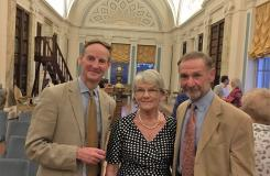 Speaker Anthony Russell (left), Chairman Trish Megginson with husband Derek