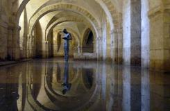 Anthony Gormley created this masterpiece to be found in The Crypt under the Cathedral.