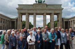 Chester DFAS Members at the Brandenburg Gate, Berlin, June 2017
