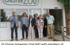 The Arts Society Chester - Dr Florian Schweizer with members of the Committee